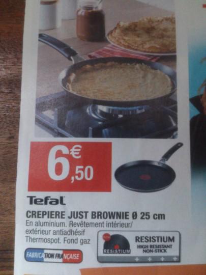 Crépière Téfal Just Brownie 25cm
