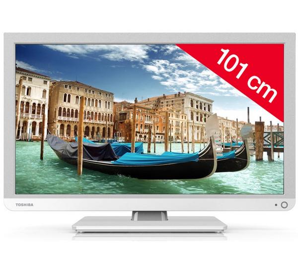 """TV 40"""" Toshiba 40L1334 - LED 1080p, 16/9, 100Hz, TNT HD, HDMI x3, USB 2.0 x2"""