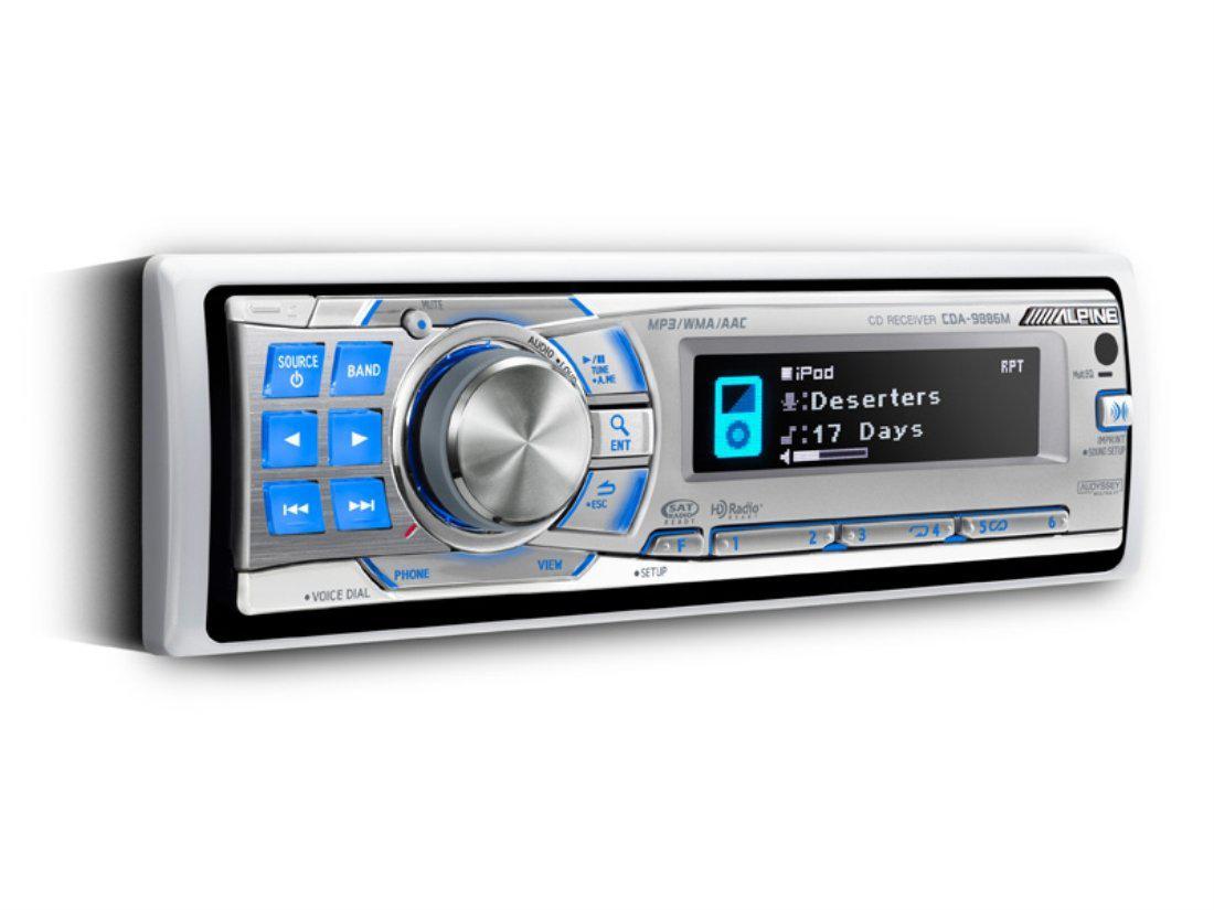 Autoradio CD (Pour milieu marin) Alpine CDA-9886M 4x50W