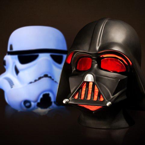 [Pre-commande] Lampe Casque Star Wars Lucas Art Dark Vador ou Stormtrooper. Grande taille à 48€ et petite