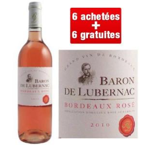 12 bouteilles de rosé Baron de Lubernac 2010