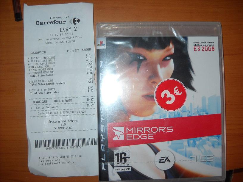 Mirror's Edge, White Knight Chronicles et d'autres jeux PS3/Xbox360