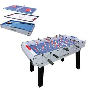 table de jeux 4 en 1 u play sur pieds billard hockey ping pong baby foot. Black Bedroom Furniture Sets. Home Design Ideas