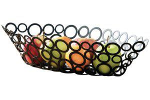 Corbeille à fruits Premier Housewars Carré Chrome à 5.99€ ou Anneaux Métalliques Noir