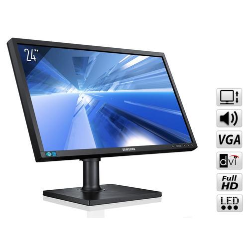 "Ecran PC 24"" Samsung S24C450MW - 1920 x 1200px - Pied réglable + Rotation"