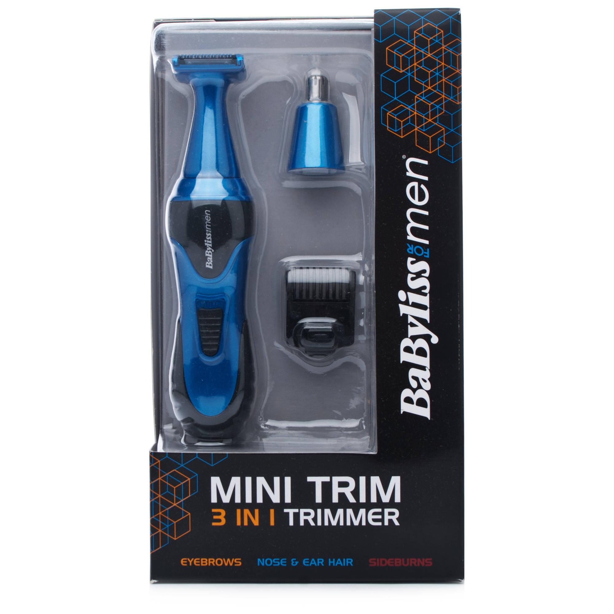 Tondeuse Nez BaByliss 7180U 3-en-1 Mini Trimmer Bleu ou Rouge