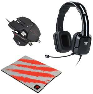 Pack Gamer MadCatz Casque Tritton Kunai + Souris Cyborg RAT7 + Tapis Glide 3
