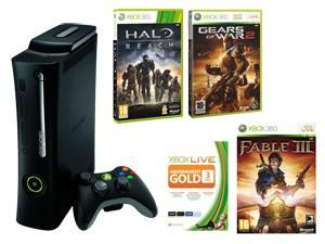 Pack Xbox 360 250 Go + Gears of War 2 + Fable 3 + Halo: Reach + 3 mois d'abonnement au Xbox LIVE Gold avec code promo
