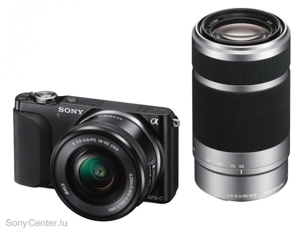 Appareil photo hybride Sony NEX-3NY avec objectifs 16-50 et 55-200 (Autres voir description)