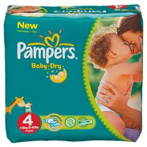 Pack pour 1 mois (174 couches) Pampers Baby Dry / Port inclus