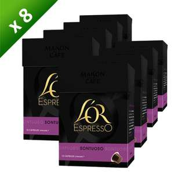 8 Boîtes de capsules L'OR Espresso