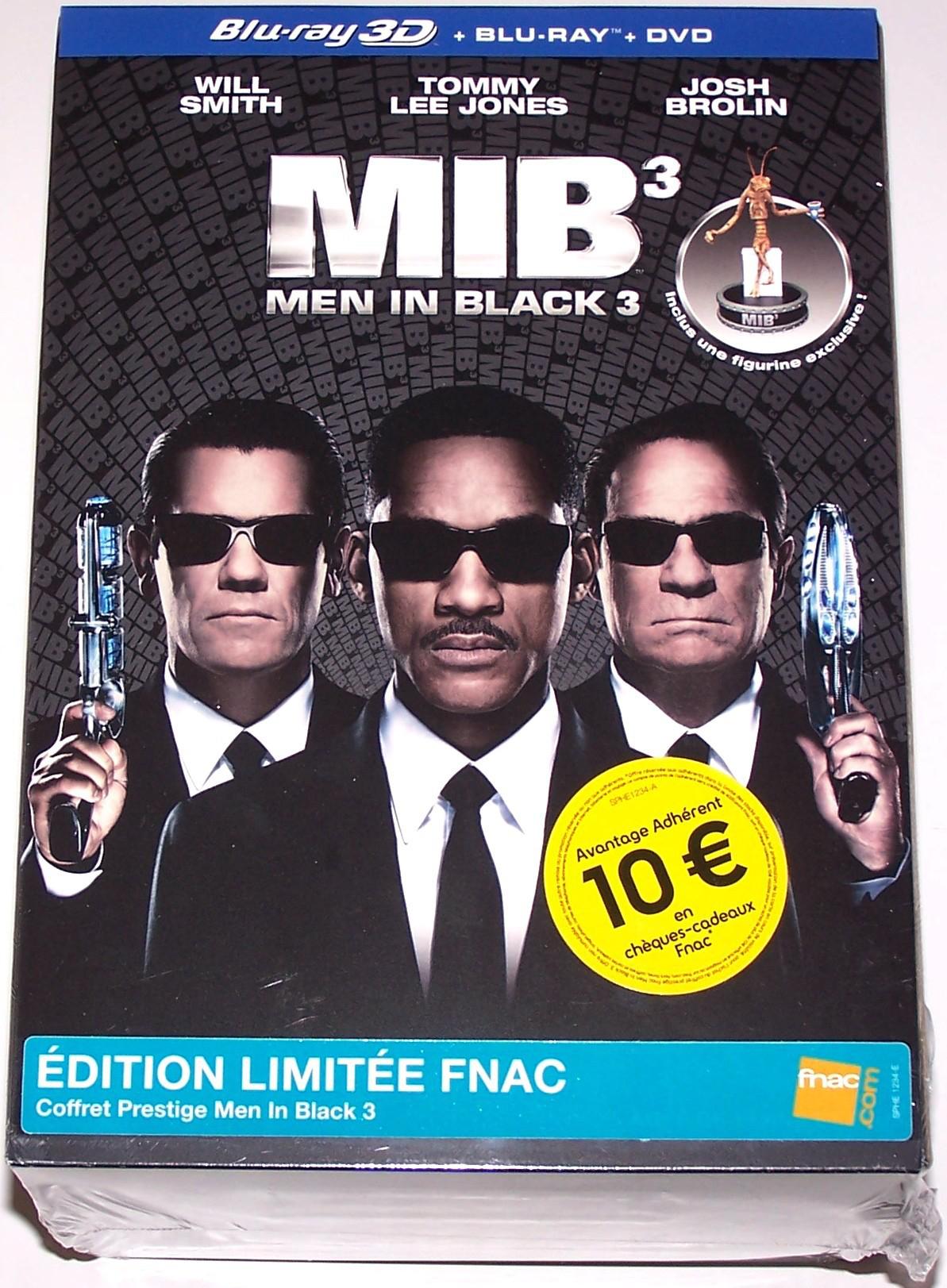 Men in Black 3 - Combo Blu-Ray 3D + DVD - Coffret Prestige Fnac avec figurine