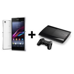 Smartphone Sony Xperia Z1 Blanc ou noir + Console PS3 Slim 12 Go (Avec ODR de 100€)