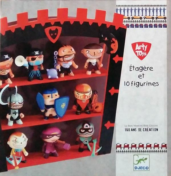 10 figurines et étagère Arty Toys Djeco