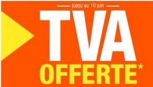 TVA offerte sur les catégories (meuble, canapés, literie, objets déco, et mobilier de jardin)