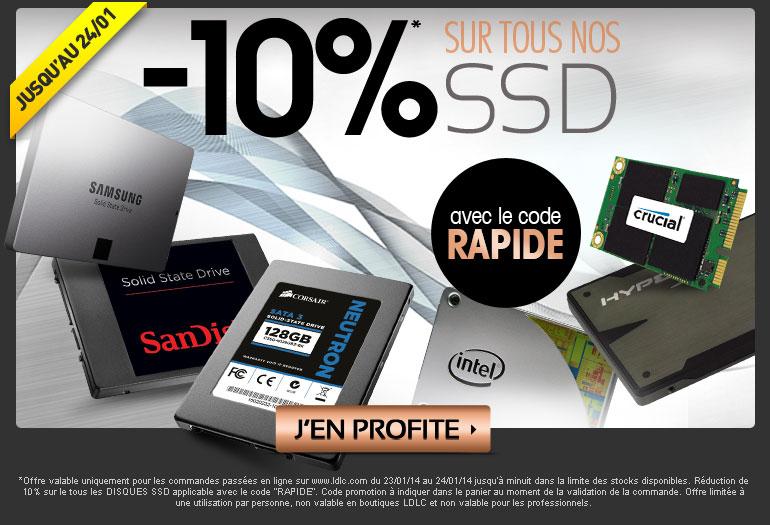 -10% sur les SSD