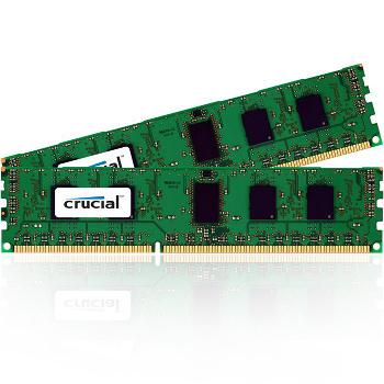 Barrette mémoire pour serveur Crucial DDR3 2 x 2 Go PC8500 ECC