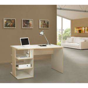 Bureau Work 130cm coloris Frêne et Blanc