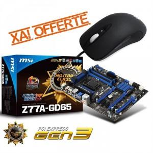 MSI Z77A-GD65 + Steelseries XAI offerte