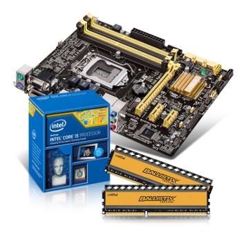 Kit mise à jour : Carte Mère B85 ASUS+ i5 4440 + 8 Go RAM + SSD M500 120 Go