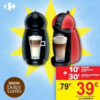 Machine à café Nescafé Dolce Gusto Piccolo (Avec ODR de 30€)