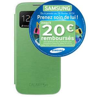 Etui Samsung S-View EF-CI950V Vert pour Galaxy S4 (Avec ODR de 20€)