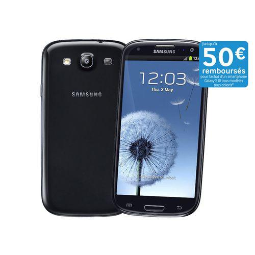 Smartphone Samsung Galaxy S3 16Go 4G Noir (Avec ODR 50€)