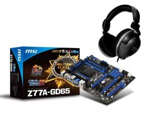 MSI Z77A-GD65 + Casque SteelSeries 5HV2 offert