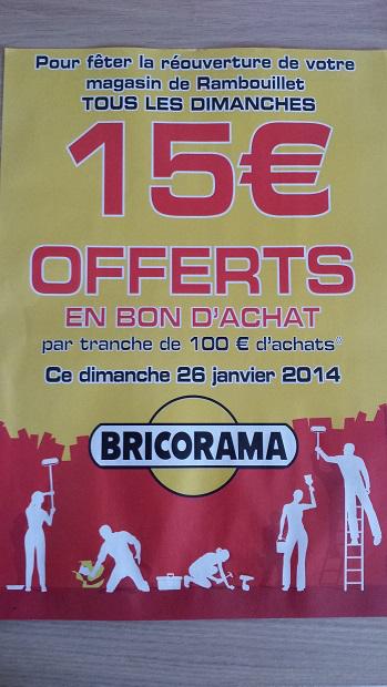 Dimanche uniquement : 15€ offerts en bon d'achat par tranche de 100€