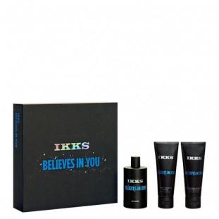 Coffret IKKS Believes in You : Eau de toilette + Gel douche + Baume après-rasage