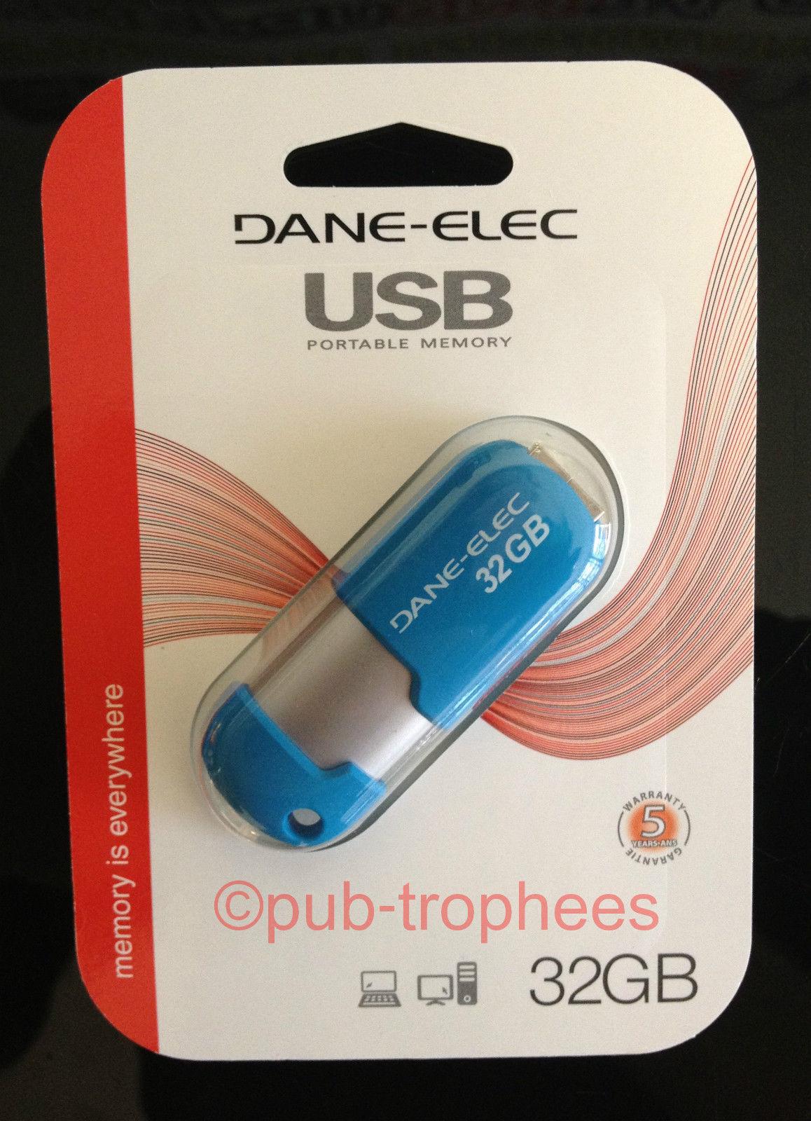 Clé USB2.0 Dane-Elec Capless - 32Go