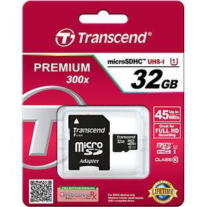 Carte Micro SDHC Transcend UHS-I 300x 32Go