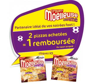 2 pizzas Marie Crousti Moelleuse Extrême achetées = 1 remboursée