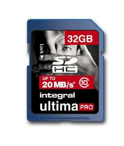 Carte mémoire Integral SDHC UltimaPro Class 10 - 32 Go