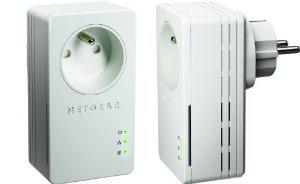 Pack de 2 Adaptateurs CPL Netgear XAVB1401 200 Mbit/s Mini Avec prise femelle Homeplug AV+ 1 port