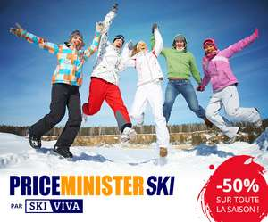 -50% sur les locations de skis + -5% supplémentaires