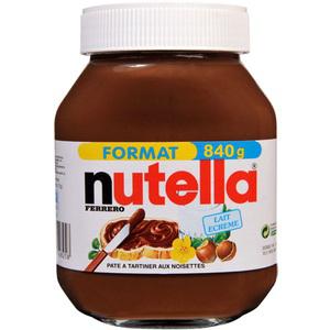 3 pots de Nutella 840gr