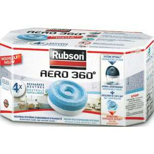 8 recharges d'absorbeurs Rubson Aéro 360