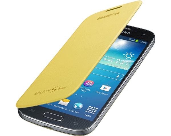 Etui Flip Cover Jaune pour Samsung Galaxy S4 Mini gratuit (Avec ODR 20€) - (2,9;€ de port)