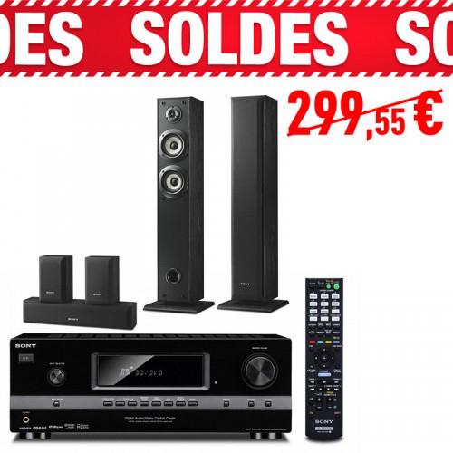 Pack home cinéma ampli 7.1 Sony STDR520 + Kit 5.0 colonnes