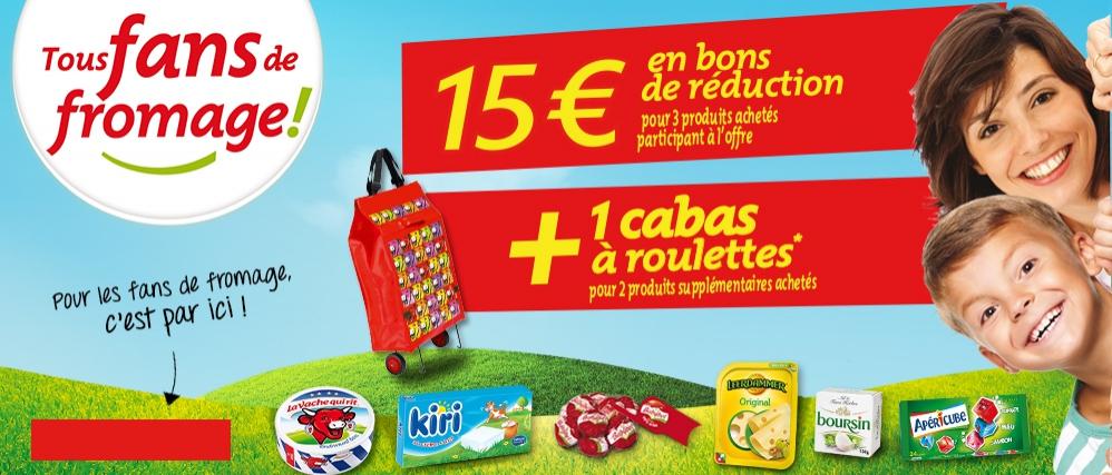 15€ en bons de réduction offerts pour 3 produits achetés