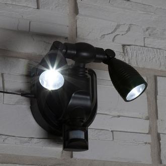Spots solaires Palerme mural 2 Leds (110 lumens) + détecteur de mouvement