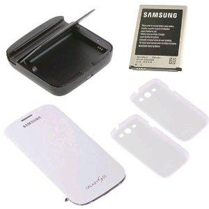 Kit Samsung Galaxy S3 (batterie, chargeur, 2 coques et un étui)