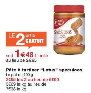 Lot de 2 pots de pâte à tartiner et biscuits au spéculoos Lotus (1+1 gratuit)