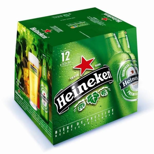 3 packs de 12 bouteilles de 33cl Heineken