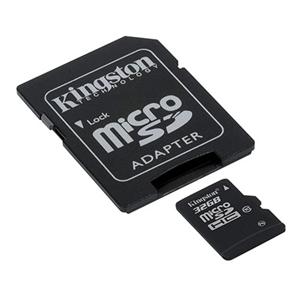 Carte mémoire microSDHC Kingston 32Go Class 10