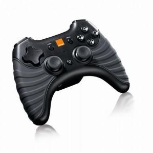 Manette de jeu sans fil Orange pour PS3 et PC