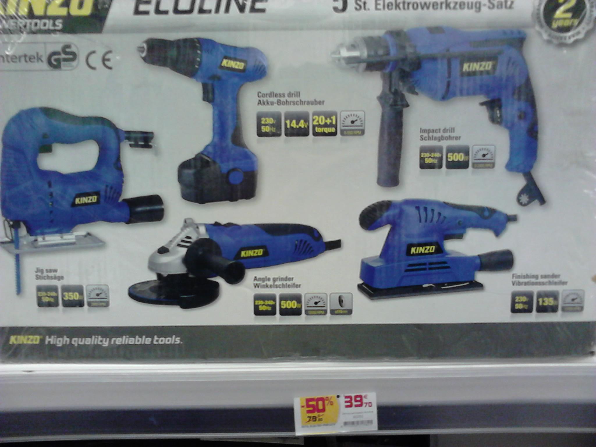 Lot 5 outils Kinzo