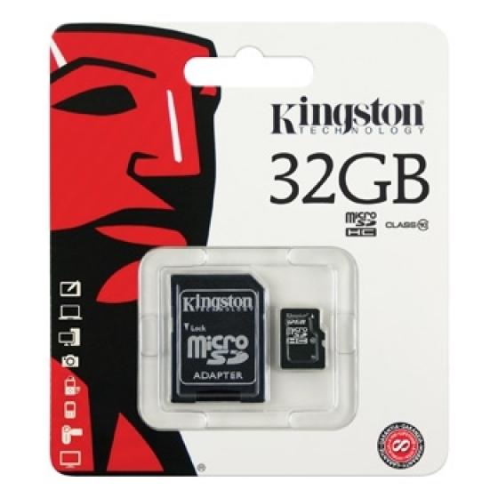 Kingston microSDHC 32GO Classe 10 +Adaptateur SD