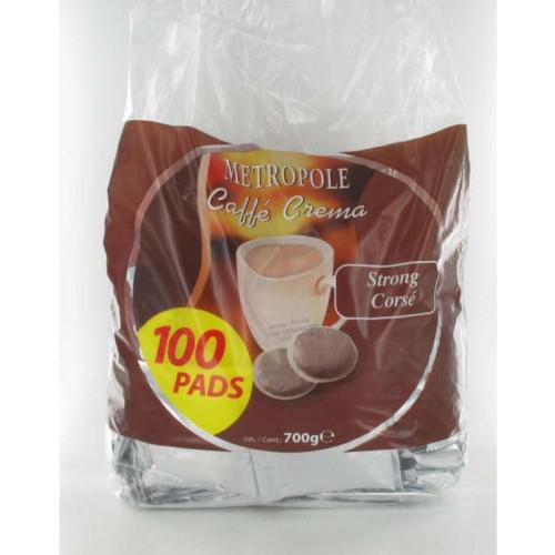 Pack de 100 dosettes de café (type senseo) Metropole 120036